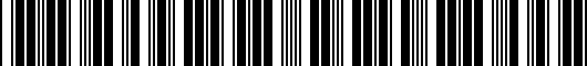 Barcode for PT2083005032