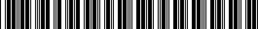 Barcode for PT29A0014040