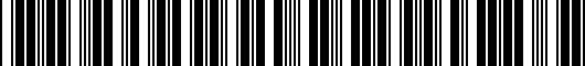 Barcode for PT29A6008L03