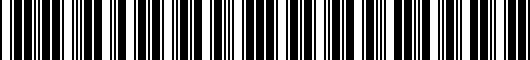 Barcode for PT9197819020