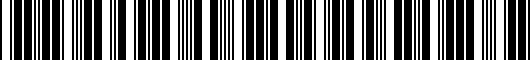 Barcode for PT9367619023
